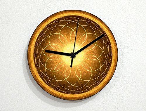 Burning Sun of the Pheonix - Mandala Pattern - Wall Clock