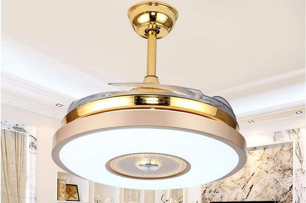 Zhang Ying ZY * Ventilador de Techo con lámpara Dormitorio Restaurantes Luz de Ventilador Led en el Ventilador de Techo Lámparas de iluminación y faroles Diámetro 108Cm 3 Luz de Control Remoto