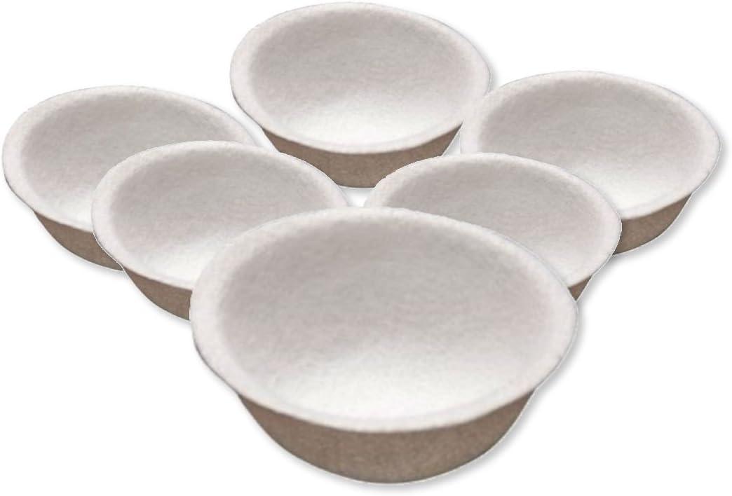 Happyzoo Nido de Fieltro para cría Canarios - 10 cm diámetro - Pack de 6 Unidades