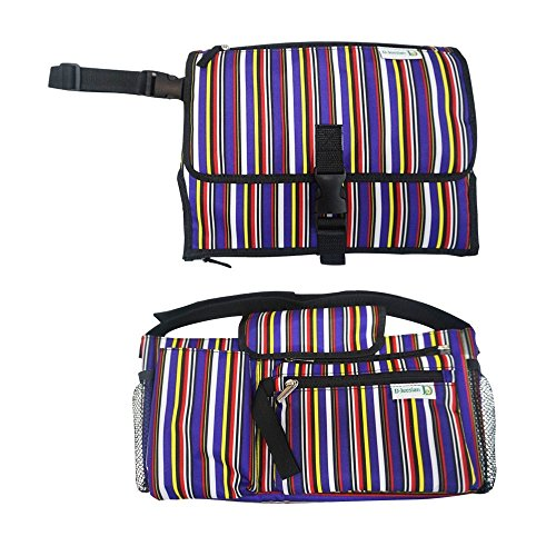 D-Jeesian Luxury Diaper Pad & Stroller Organizer Bag Kit Extra Storage, Portable Changin Station, Universal