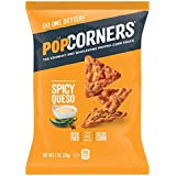 POPCORNERS Spicy Queso, Popped Corn Snacks, Gluten Free, 1oz bags (Pack of 40)