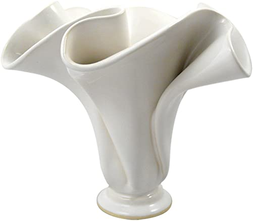 Contemporary Handmade Stoneware Pottery Ripple Vase