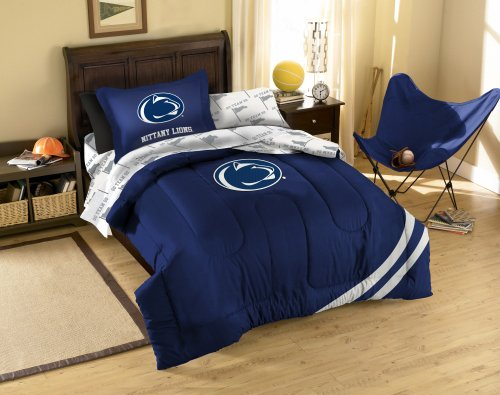 NCAA Penn State Twin Comforter, Sheets and Sham (5 Piece Bed in a Bag) by NCAA