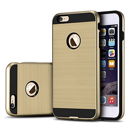 iPhone 6/6S Plus Case, [Dual Layer: Thin Silicone Interior + Heavy Duty...