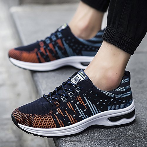 Blue 10 Athletic Town 5 Running No Men's Sneakers 6 US Flyknit 66 Lightweight Air Shoes Oxg6gpFw