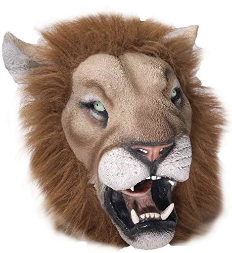 Scar Costumes And Mufasa (Latex Lion Full Head Mask With Fake)