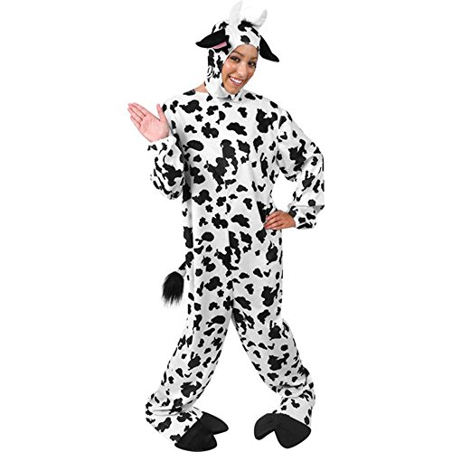 Amazon.com: Adult Classic Cow Halloween Costume (Size: Standard 44 ...
