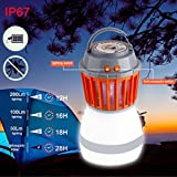 Yeefant Convenient Energy-saving UV LED Electric Charging Fly Insect Bug Pest Mosquito Trap Drive Away Night Double Use Lamp for Living Room Bedroom Summer