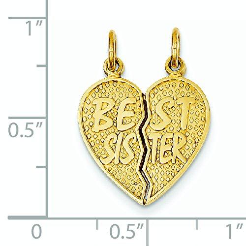 Best Sister 14 carats-Break-apart-JewelryWeb