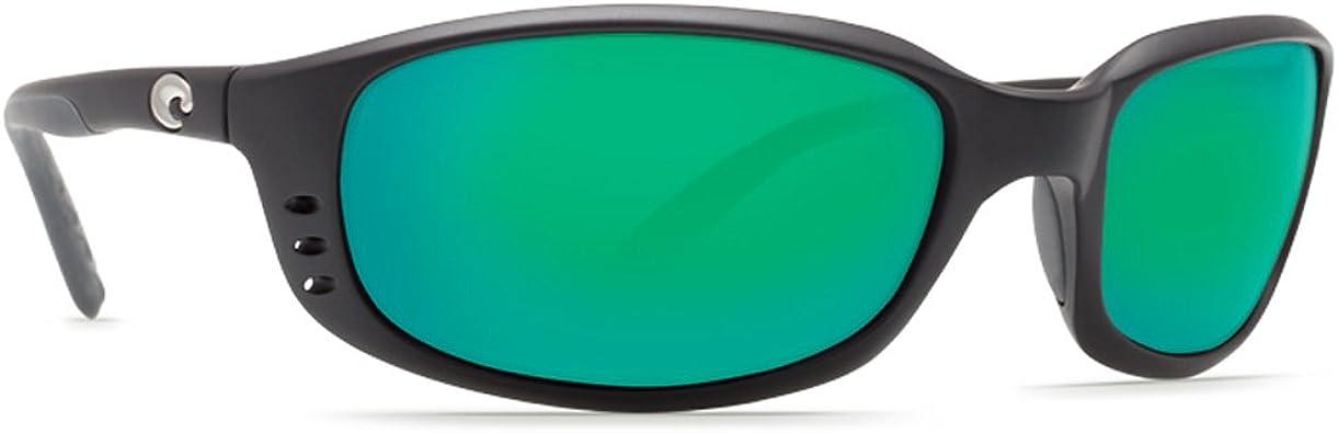 new Costa del Mar Brine Sunglasses BLACK//BLUE MIRROR 400G Polarized 400 g glass