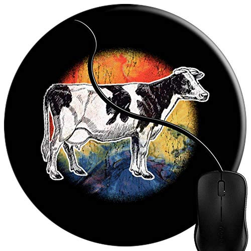 Mouse Pad Gaming Cow Bell Spirit Animal Love Funny, Premium-Textured Surface, Non-Slip Rubber Base, Laser Optical Mouse Compatible, Mouse mat 1U1651 -
