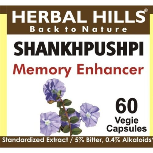 - Shankhpushpi Capsules:Indian Ayurvedic Herb, 60 V Caps,240mg each,Brain tonic-Memory enhancer,help for sleep,relief from stress and anxiety,effective for nervous system. by Herbal Hills