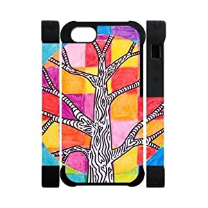 Canting_Good,colorful trees, Custom Dual-Protective 3D Polymer Case for IPhone 5