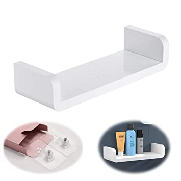 designer fashion 6f8c9 ffa8b Laigoo Adhesive Floating Shelf Wall Shelf Non-Drilling, U Bathroom  Organizer Display Picture Ledge Shelf for Home Decor/Kitchen/Bathroom ...