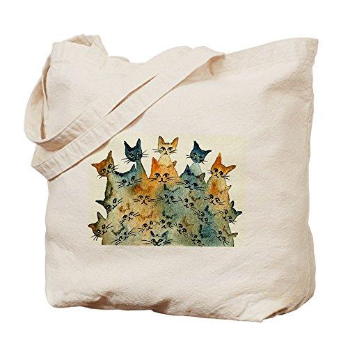 CafePress - Charlottesville Stray Cats Bag - Natural Canvas Tote Bag, Cloth Shopping - Charlottesville Shopping