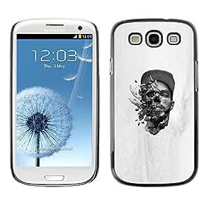 CASECO - Samsung Galaxy S3 - Head Blast - Delgado Negro Plástico caso cubierta Shell Armor Funda Case Cover - Cabeza explosiva