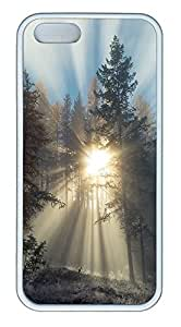 iPhone 5 5S Case landscapes nature sunlight trees 39 TPU Custom iPhone 5 5S Case Cover White by icecream design
