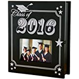 Class of 2016 - 4x6 Graduation Picture Frame and Keepsake Memory Box, Black