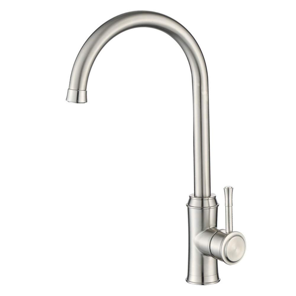 Kitchen Faucet Hot and Cold Stainless Steel Sink Faucet Waist High-End Sink Mixing Valve