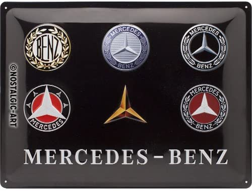 MERCEDES Car Garage Light Box LED Games Room Sign man cave garage VINTAGE RETRO