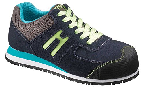 Electrical Hazard Safety Shoes (Hytest Womens Athletic Oxford Steel Toe, Electrical Hazard, Slip Resistant Safety Work Shoe (9W US, Navy))