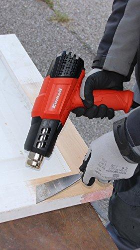 Einhell TE-HA 2000 E Pack con decapador 220-240 V 4 boquillas y malet/ín color rojo y negro 2000 W interruptor de 3 posiciones