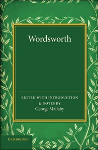 Wordsworth Extracts From The Prelude With Other Poems