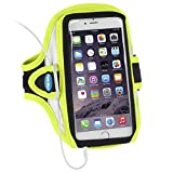 iphone 4 running belt - Armband for iPhone 6 Plus, 6s Plus, 7 Plus & Samsung Galaxy S8 Plus & Note 4, 5 - Great for Running, Walking & Gym Workouts - For Men & Women [Neon Yellow]
