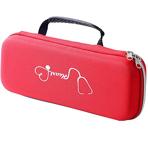 Meijunter (Red)Hard Case for 3M Littmann Cardiology III/Classic III/Lightweight II S.E./Classic II S.E./Master Cardiology/Cardiology IV Stethoscope,Carry Hard Bag Protective Case Cover Box