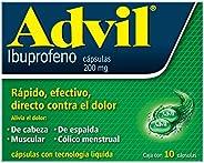 Advil Analgésico 200 mg Dolores Leves Caja con 10 cápsulas