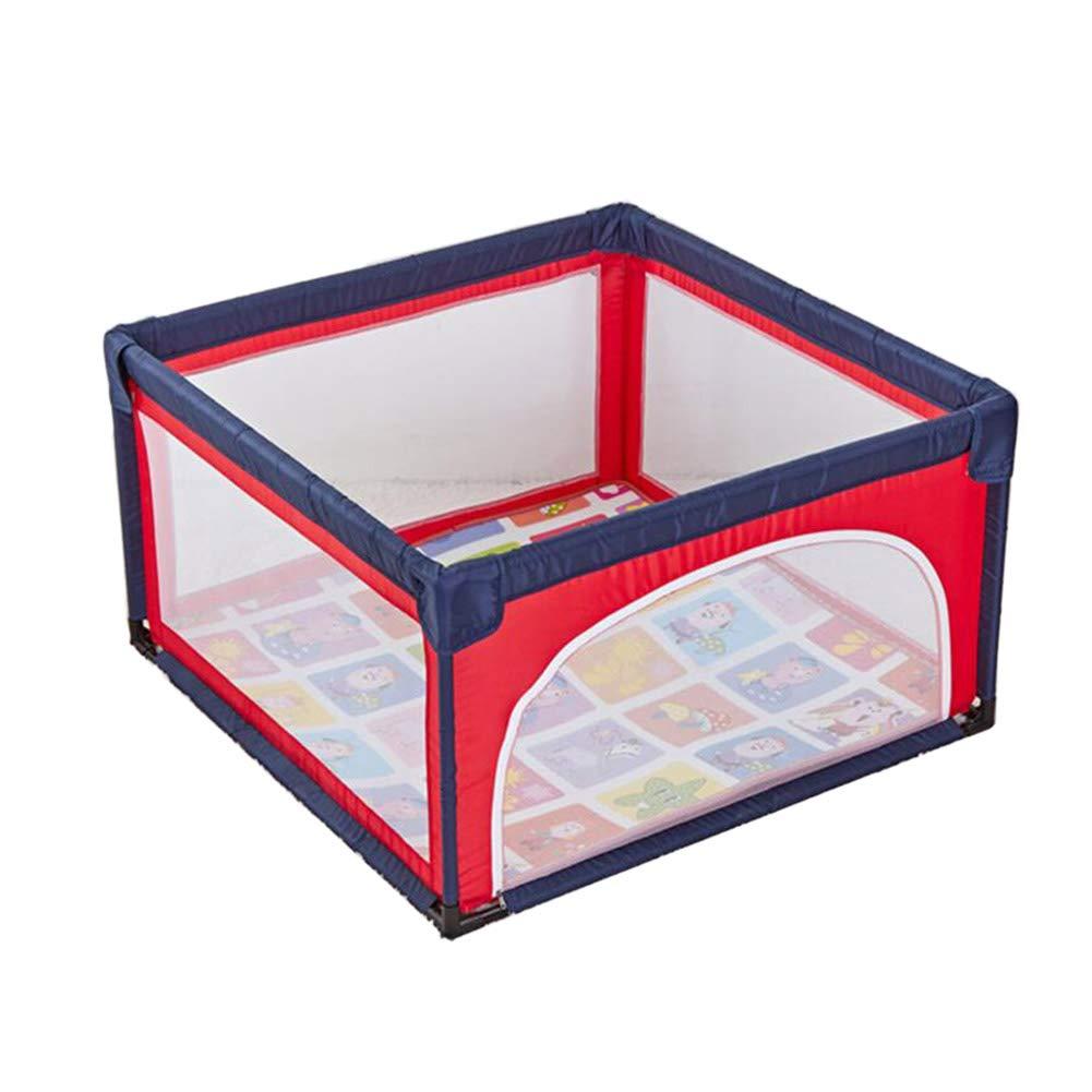 海外ブランド  ベビーサークル安全ゲームのフェンス子供の遊び場合金鋼パイプマット付きポータブル折りたたみベビーサークル (色 : B07HF5ZQ7Z Red) : Red Red B07HF5ZQ7Z, らぐー:0d1baca9 --- a0267596.xsph.ru