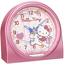 SEIKO CLOCK ( Seiko clock ) Hello Kitty talking alarm clock alarm sound switching type ( Pink Pearl paint ) CQ134P
