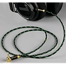 gotor Single Crystal Copper Audio Extension Cord Audio Cable Headphone Cords Headphone Jack Cord Headphone Cable For Philips SHP9500 Fidelio X2 F1 X1 Headphones (1m, Green+Black)