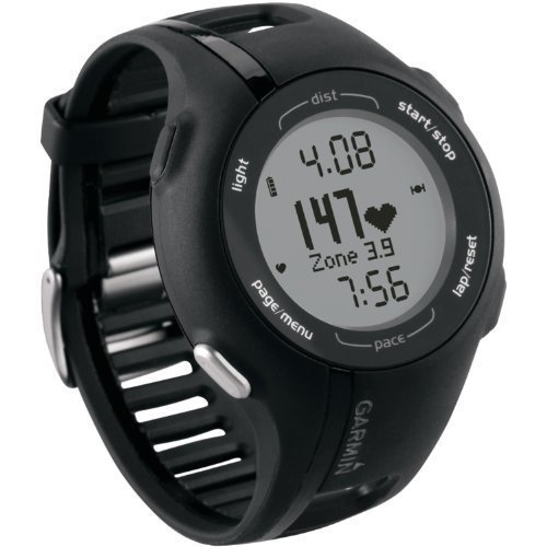 Garmin Forerunner 210 GPS Sport Watch w/ Heart Rate Monitor – BLACK (Certified Refurbished)