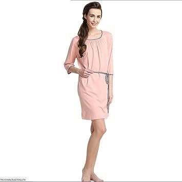 Albornoces Albornoces para Mujer Fibras Artificiales Suave Cálido Acogedor Batas de Mujer Inicio Ropa de Dormir Vestido de Pareja (Color : Rosado, ...