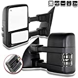 SCITOO Towing Mirrors, fit Ford Exterior Accessories Mirrors fit Ford F250 F350 F450 F550 Super Duty 2003-2007 Signal Power Controlling Heated Convex Glass Manual Folding Telescoping (Pair)