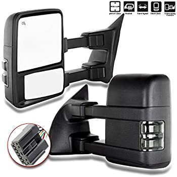 dedc pair towing mirrors power heated with red. Black Bedroom Furniture Sets. Home Design Ideas