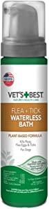 Vet's Best Flea and Tick Waterless Bath Foam for Dogs | Flea Treatment Dry Shampoo for Dogs | Flea Killer with Certified Natural Oils | 8 Ounces
