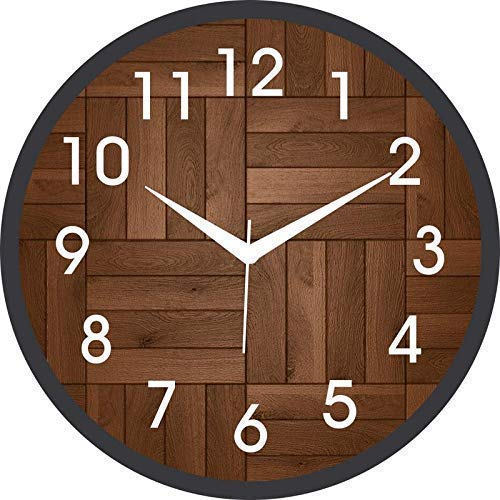 asian multistore hub Wall Clock for Home/Living Room (Plastic , Quartz , Brown-Black)