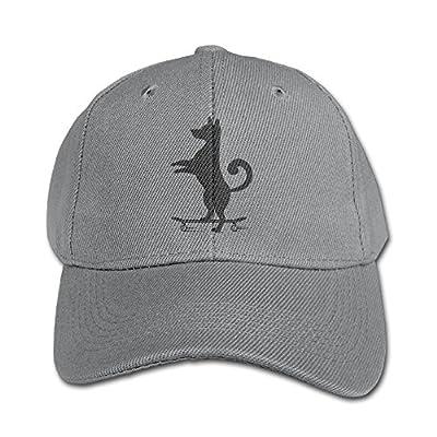 Pule bfdf Girls-Boys Adjustable Hats Dog Skateboard Funny Solid Color Baseball Cap