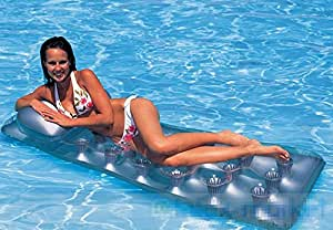 Flotante cama Luxus Solarium Natación Serie hinchable cama de agua arena playa (Cojín de aire