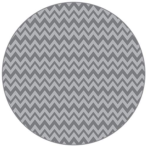 Chair Round High - BooginHead Baby Newborn Toddler Kid SplatMat, Floor Cover, High Chair, Picnic, Art Project, Play Time, Crafts, Protective Mat Go Go Chevron, Gray