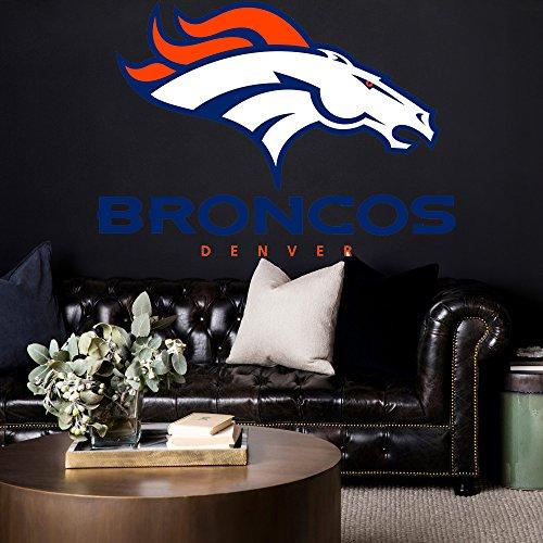 Denver Broncos decals, NFL logo decal, Denver Broncos, Denver Broncos large decal, Denver Broncos sticker,Denver Broncos wall decal, Denver Broncos logo decal pf71 (15