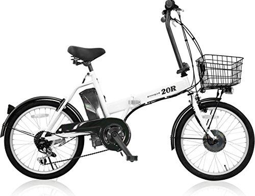 AIJYU CYCLE 접이식 어시스트 자전거 패스 피에 20R 시마노6 단기어 20인치 5Ah리튬 이온 배터리 형식 인정 차량(TS마크) (화이트)