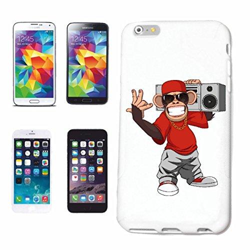 """cas de téléphone iPhone 6S """"MONKEY Beatbox LUNETTES DE LA CHAÎNE D'OR ET basecap MONKEY MONKEY GORILLA CHIMP SILVER RETOUR APE CHARLY MONKEY KING KONG"""" Hard Case Cover Téléphone Covers Smart Cover pou"""
