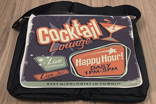 Borsa Tracolla Retro Happy hour Stampato