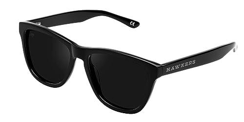 Hawkers Black Dark One X , Gafas de Sol Unisex, Negro