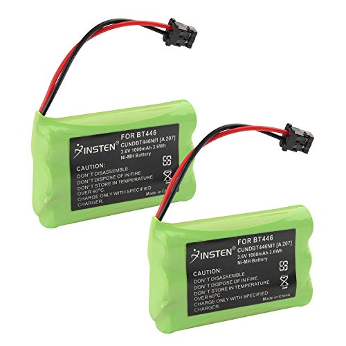 Insten 2x 3.6V 800mAh BT446 Battery for Uniden Cordless - Amp Cordless Ghz 5.8