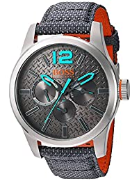 Boss Orange Men's Quartz Stainless Steel and Resin Automatic Watch, Color: Grey (Model: 1513379)