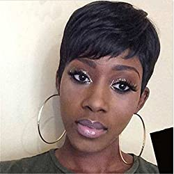 ATOZWIG Female Wig Short Straight Black Wigs for Black Women Short Black Wig Heat Resistant New Arrival